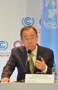 UN General Secretary Ban Ki-moon. Photo by Justin Catanoso