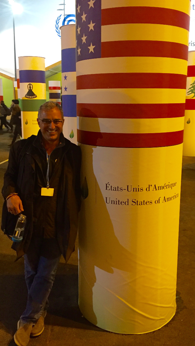 Outside the entrance of the UN Climate Summit talks in Paris. Photo by Eric J. Lyman
