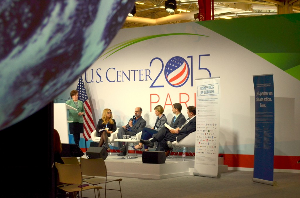 Business panel discussion at the US Pavilion. Photo by Justin Catanoso