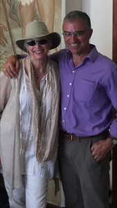 Emmlyou Harris and me in Rome, Italy, June 2016