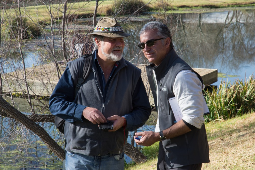 Bob Scholes and I at a science and art event on the outskirts of Johannesburg in June 2017. Photo by Bobby Amoroso