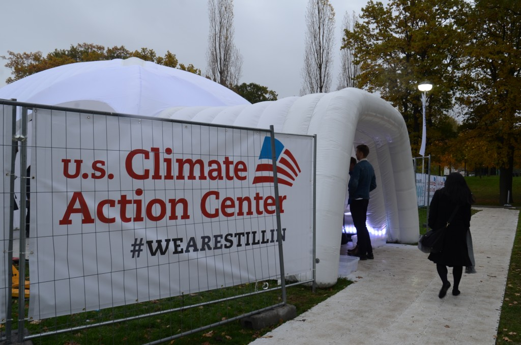 The US Climate Action Center, not paid for by the Trump Administration, but rather private interests. Photo by Justin Catanoso
